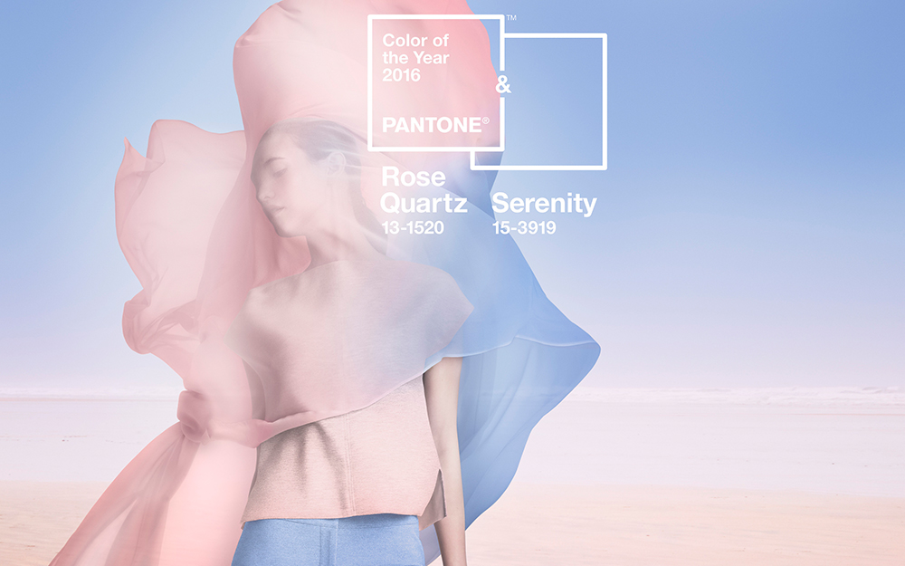 """The Perfect Pair: Pantone's 2016 Colors Of The Year, """"Rose Quartz"""" and """"Serenity"""""""